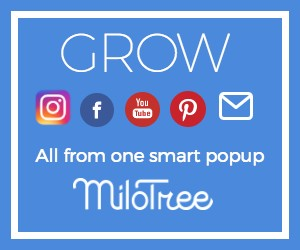 Use Milotree to grow your followers 24/7 all on autopilot! SO easy to set up, and it's what professional bloggers use!