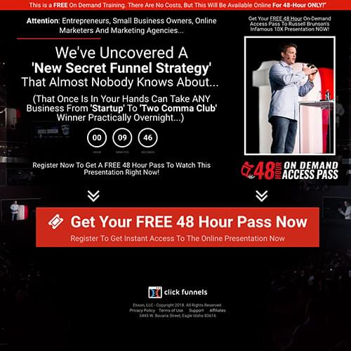 Learn this secret funnel strategy that boosts product sales by 540%! (On Autopilot!) Free 48 hour access for a limited time.