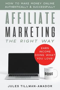 "Get the book on affiliate marketing. You don't need to take a high-priced, over-hyped course to learn how to do affiliate marketing, because ""Affiliate Marketing the Right Way: How to Make Money Online Authentically and Successfully"" the book (on Kindle and paperback - audio version coming soon!) is here!"